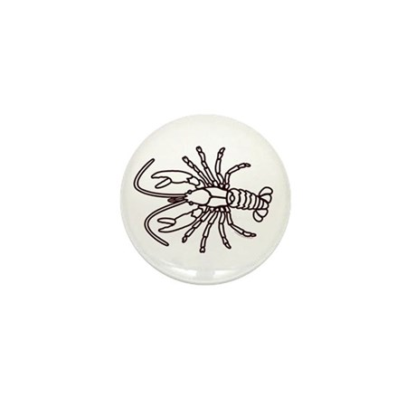 Crawfish White Mini Button (100 pack)