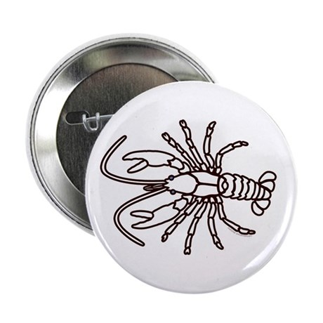 "Crawfish White 2.25"" Button"