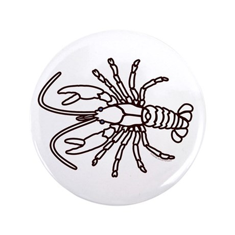 "Crawfish White 3.5"" Button"