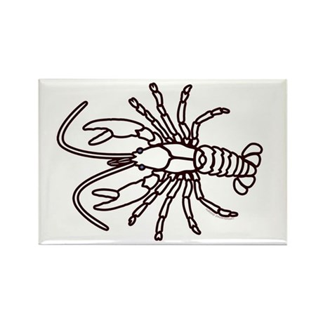 Crawfish White Rectangle Magnet (10 pack)