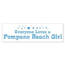 Loves Pompano Beach Girl Bumper Bumper Sticker