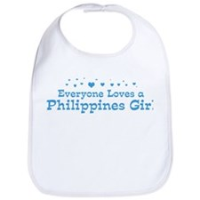 Loves Philippines Girl Bib