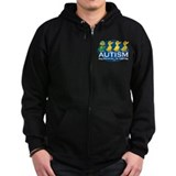 Autism Ugly Duckling Zipped Hoodie