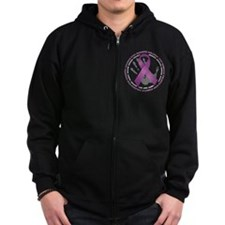 Stop Domestic Violence Ribbon Zip Hoodie