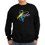 Down Syndrome Ribbon Hope Sweatshirt (dark)