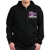 Fibromyalgia:Purple for Mothe Zip Hoody