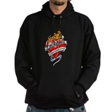 Leukemia Tattoo Heart Hoody
