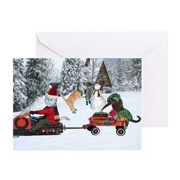 Sandy Claws Holiday Cards (Pk of 10) 5 x 7""