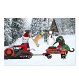 Sandy Claws Mobile Postcards (Package of 8)