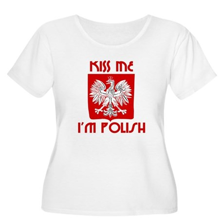Kiss me, I'm Polish - Women's Plus Size Scoop Neck