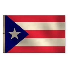Puerto Rican Flag Rectangle Decal