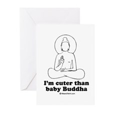 Unique Buddha baby Greeting Cards (Pk of 20)