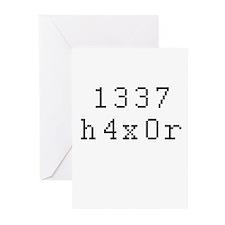 1337 h4x0r - Leet Hacker Greeting Cards (Pk of 20)