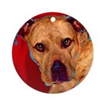 Pitbull Ornament (Round)