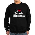 I Love Barack Obama Sweatshirt (dark)