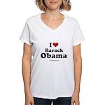 I Love Barack Obama Women's V-Neck T-Shirt