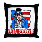 Uncle Sam Bamboozle Throw Pillow