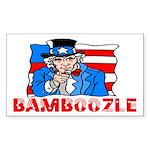 Uncle Sam Bamboozle Rectangle Sticker