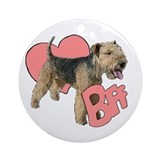 lakeland terrier heart Ornament (Round)