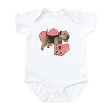 lakeland terrier heart Infant Bodysuit