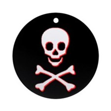 Pirate Skull Ornament (Black)