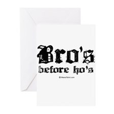 Bro's before Ho's - Greeting Cards (Pk of 20)