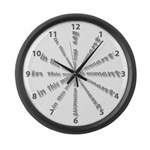 In This Moment Large Wall Clock