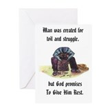 Elderly man sympathy card