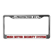 Irish Setter Security License Plate Frame