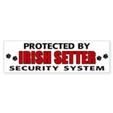 Irish Setter Security Bumper Bumper Sticker