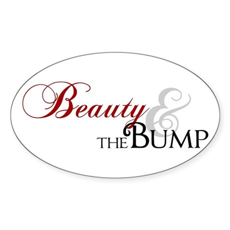 Beauty & The Bump Oval Sticker