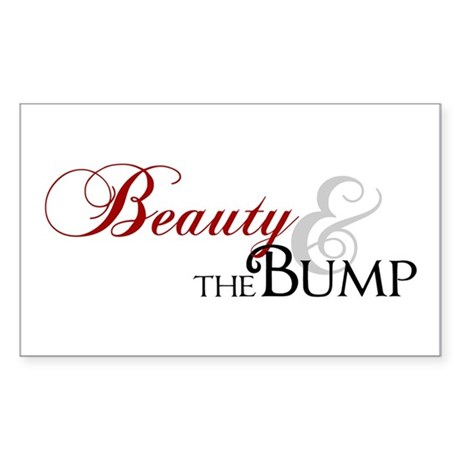 Beauty & The Bump Rectangle Sticker