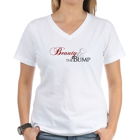 Beauty & The Bump Women's V-Neck T-Shirt