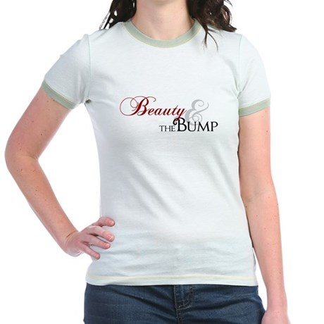 Beauty & The Bump Jr. Ringer T-Shirt