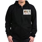 Christmas Gift Dreams Zip Hoodie (dark)