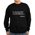 Aristotle Quote on Art and Na Sweatshirt (dark)