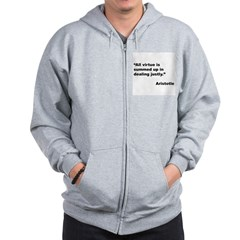 Aristotle Quote on Virtue Zip Hoodie