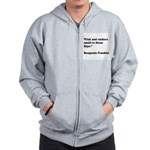 Benjamin Franklin Visitors Qu Zip Hoodie