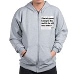 Gandhi Still Voice Quote Zip Hoodie