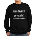 Latin Wise Love Quote Sweatshirt (dark)
