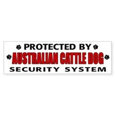 Australian Cattle Dog Security Bumper Bumper Sticker