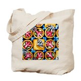 PETALS and PEACE Single Side Tote Bag