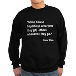 Wilde Happiness Quote Sweatshirt (dark)