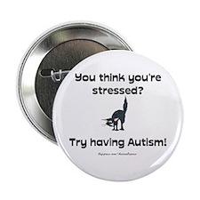 "Autism Stress (cat) 2.25"" Button (10 pack)"