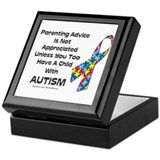 Parenting Autism (advice) Keepsake Box