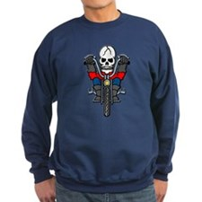 Motorcycle Biker Skull Tattoo Jumper Sweater