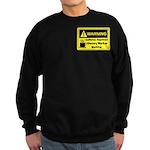 Caffeine Warning Dietary Worker Sweatshirt (dark)
