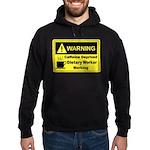 Caffeine Warning Dietary Worker Hoodie (dark)