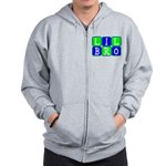 Lil Bro (Blue/Green Bright) Zip Hoodie