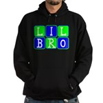 Lil Bro (Blue/Green Bright) Hoodie (dark)